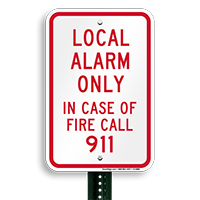 In Case Of Fire Call 911 Sign