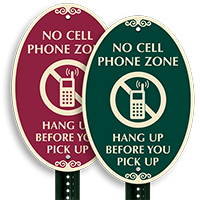 No Mobile Phone SignatureSign