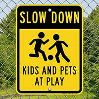 Kids And Pets At Play Slow Down
