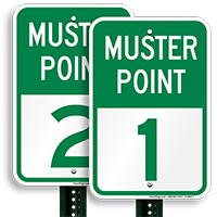 Muster Point 1 Sign