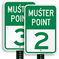 Muster Point 2 Sign