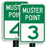 Muster Point 3 Sign