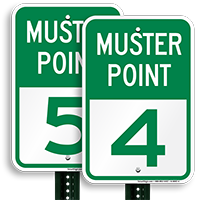 Muster Point 4 Sign