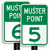 Muster Point 5 Sign