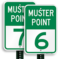Muster Point 6 Sign