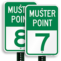 Muster Point 7 Sign