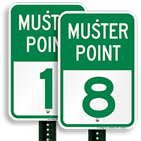 Muster Point 8 Sign