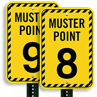 Muster Point Number 8 Sign
