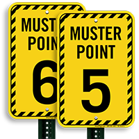 Muster Point Number 5 Sign