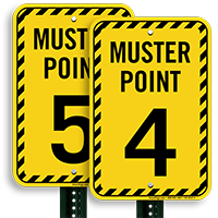 Muster Point Number 4 Sign
