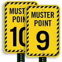 Muster Point Number 9 Sign