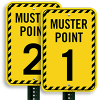 Muster Point Number 1 Sign