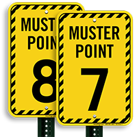 Muster Point Number 7 Sign