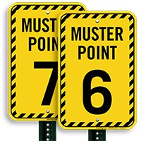 Muster Point Number 6 Sign