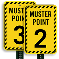 Muster Point Number 2 Sign