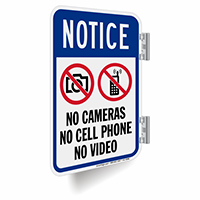 No Cameras Cell Phone Video Sign