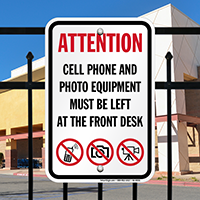 No Cell Phone And Photo Attention Sign