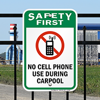 Do Not Use Cell Phones Sign
