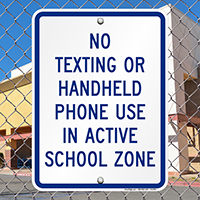 No Handheld Phone Sign