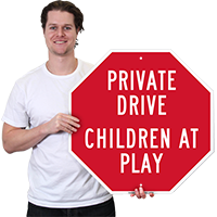 Private Drive Children At Play Sign