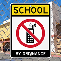 School No Cell Phone Sign