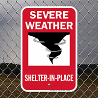 Severe Weather,With Graphic Emergency Shelter Sign