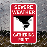Severe Weather Gathering Point Emergency Sign