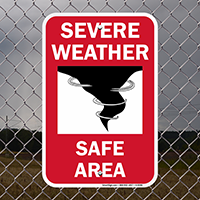 Severe Weather Emergency Sign