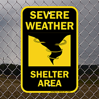 Severe Weather Emergency Shelter Sign