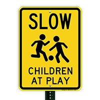 Slow Children At Play Signs (with Graphic)
