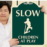 Slow Children At Play SignatureSign