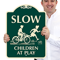 Children At Play with Graphic SignatureSign