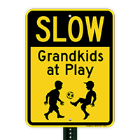Slow Grandkids at Play With Kids Playing
