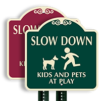 Kids And Pets At Play SignatureSign