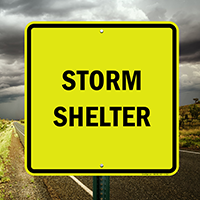 Storm Shelter, Emergency Signs