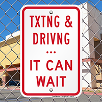 Texting Driving Rules Sign