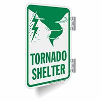 Tornado Shelter Metal Sign