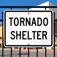 In Case Of Emergency Tornado Shelter Sign