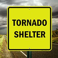Tornado Shelter Emergency Sign