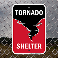 Tornado Shelter with Graphic