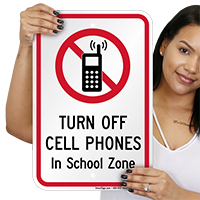No Cell Phone In School Sign