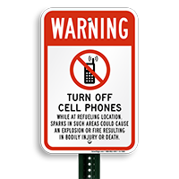 Warning Turn Off Cellphones Sign