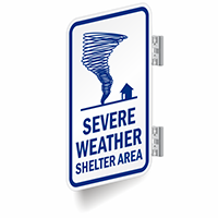 Two Sided Weather Shelter Sign