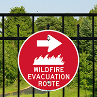 Evacuation Route Right Arrow Sign