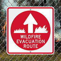 Wildfire Evacuation Route Arrow Sign
