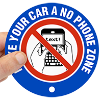 Car No Phone Zone Label