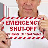 Sprinkler Control Valve Label