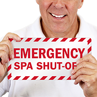 Spa Shut-Off Emergency Label
