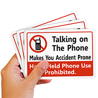 Hand-Held Phone Use Prohibited Label