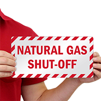 Natural Gas Shut-Off Emergency Label